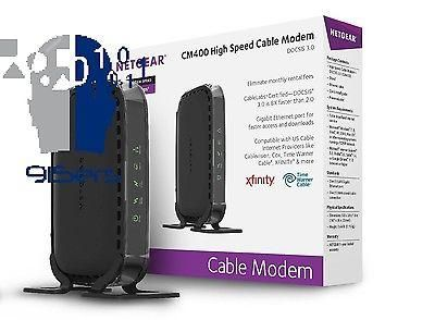 NETGEAR CM400 DOCSIS 3.0 Cable Modem for XFINITY Time Warner Cable Cox New