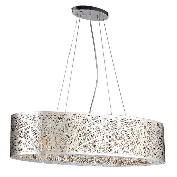 6 light pendant nest colllection shown in polished chrome by plc lighting 77749