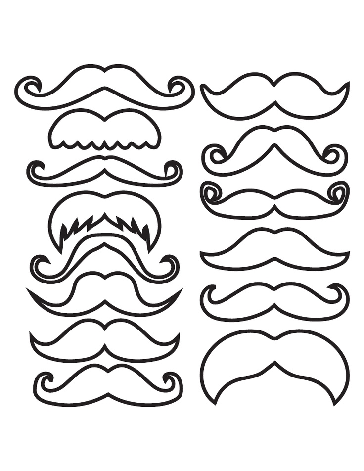 mustach template - lorax mustache template printable sketch coloring page