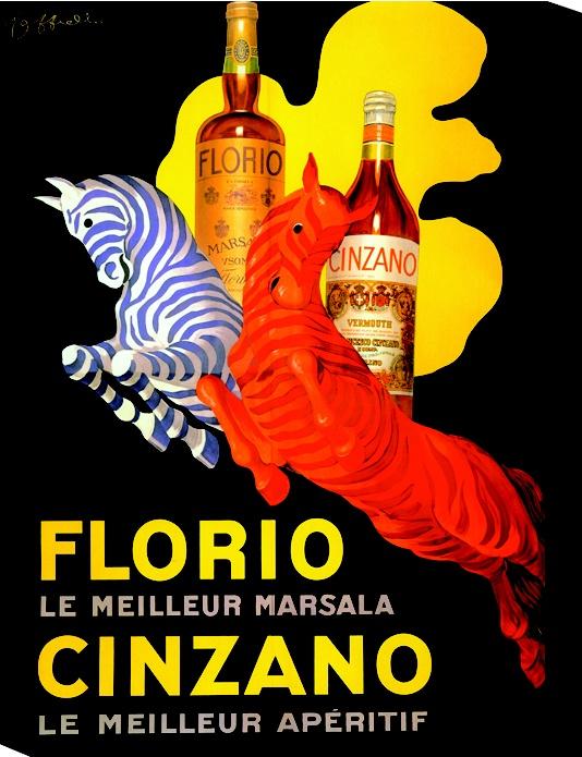 Vintage Florio and Cinzano Poster