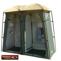 Outdoor Connection Double Toilet / Shower Tent | Camping and Tents, Camp Ovens, Sleeping Bags, Camping Gear, Coleman Camping, Camping Equipments,