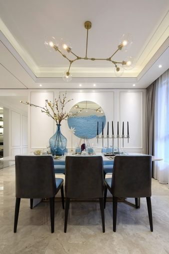 Another dining area means another interesting chandelier