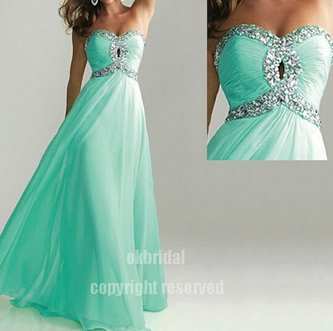 The Turquoise prom dresses are fully lined, 8 bones in the bodice, chest pad in the bust, lace up back or zipper back are all available, total 126 colors are available. This dress could be custom made, there are no extra cost to do custom size and color.  Description of Turquoise prom dresses ...