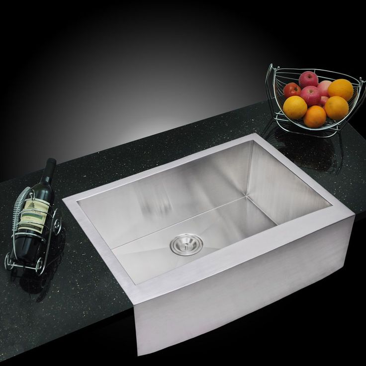 Water Creation 30-inch X 22-inch Zero Radius Single Bowl Stainless Steel (Silver) Hand Made Apron Front Kitchen Sink (Sink