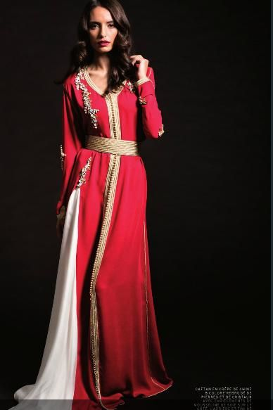 caftan 2014 red and white