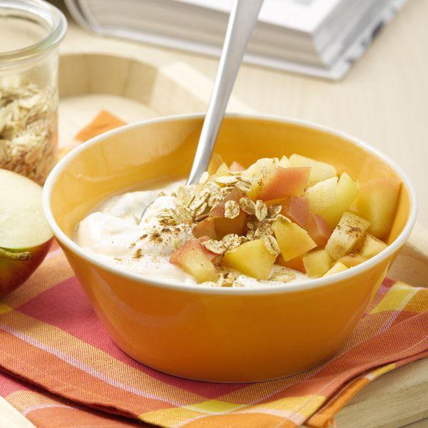 Smullen! Warme appel met kaneel en bananenkwark als #PowerStart #ontbijt! #WeightWatchers #WWrecept
