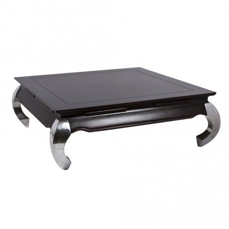 Walnut Dark Opium Table Gloss Square   Tables   Meubles   PTMD