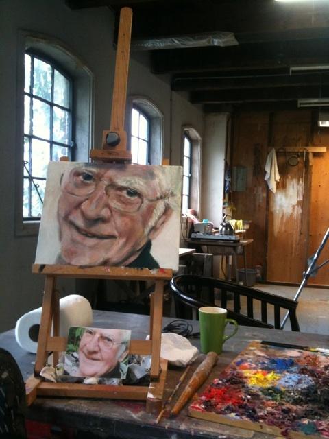 Piet schilderen op Atelier #Haarlem