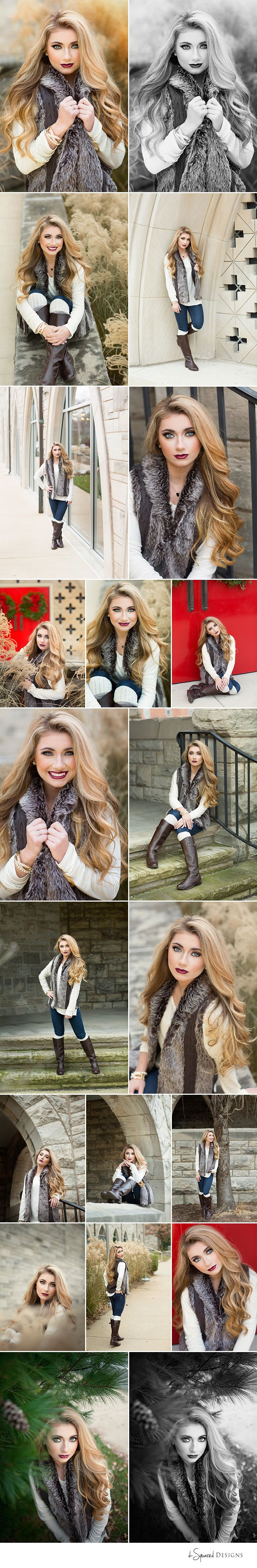 d-Squared Designs St. Louis, MO Senior Photography. Winter Senior photography. Winter session. Gorgeous. Fur fashion. Style.
