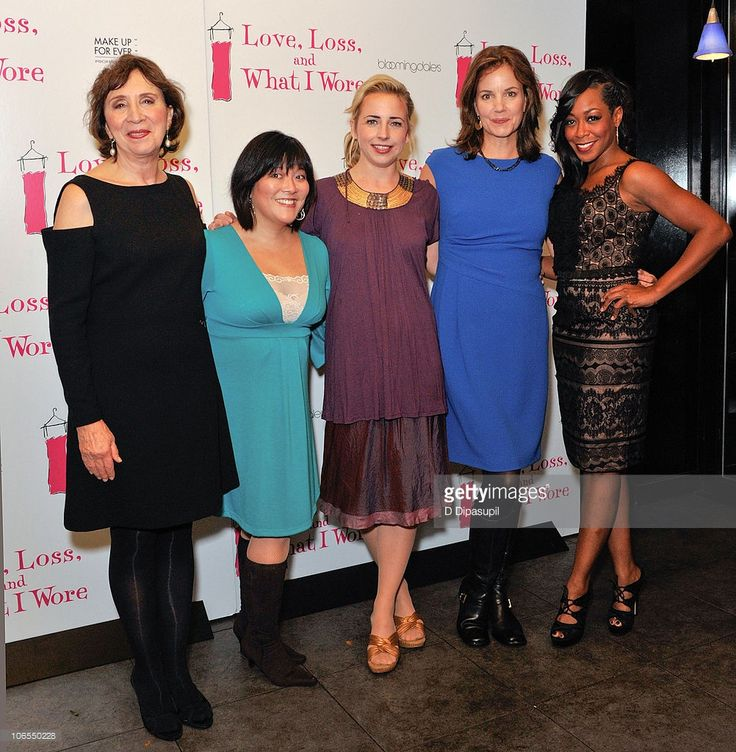 Maria Tucci, Ann Harada, Alicia Goranson, Margaret Colin, and Tichina Arnold attend the after party for the new cast of 'Love, Loss, And What I Wore' at L'allegria on November 4, 2010 in New York City.