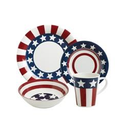 Pfaltzgraff Stars and Stripes 16 Piece Melamine Dinnerware Set - Wow, I love this set!