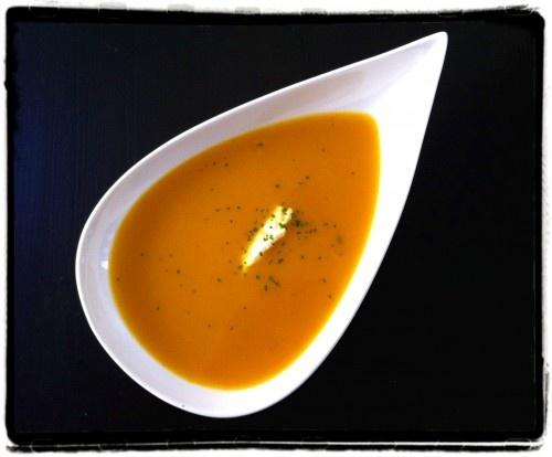 Pompoen-wortelsoep met sinaasappel