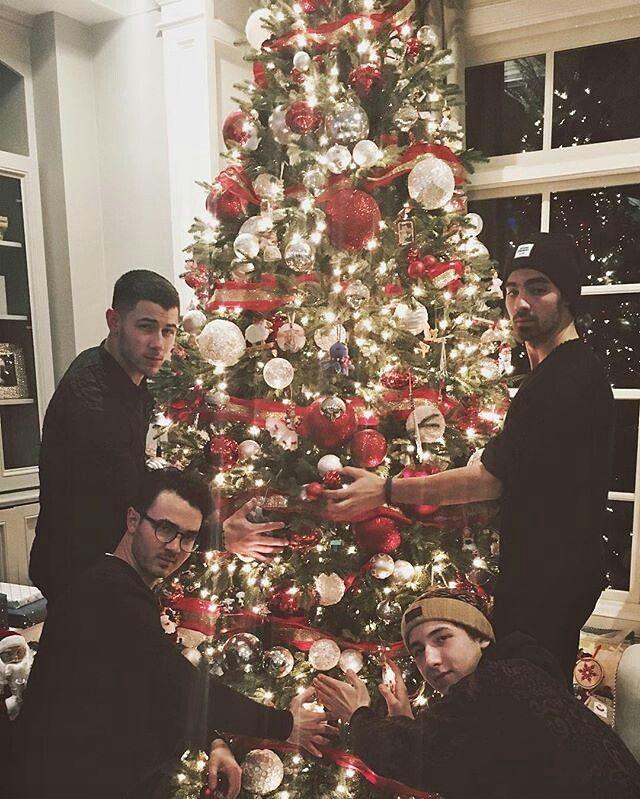 Nick Jonas, Joe Jonas, Kevin Jonas and Frankie Jonas #MerryChristmas