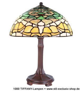 30ø, TIFFANY Tisch Lampe, Serie CAMPANULA. Design U003d GJV Glaskunst Studio.  30ø, Ca.36 Cm Hoch. 1x E 14/ 40W. Nach überlieferten Vorbildern Mit Der ...