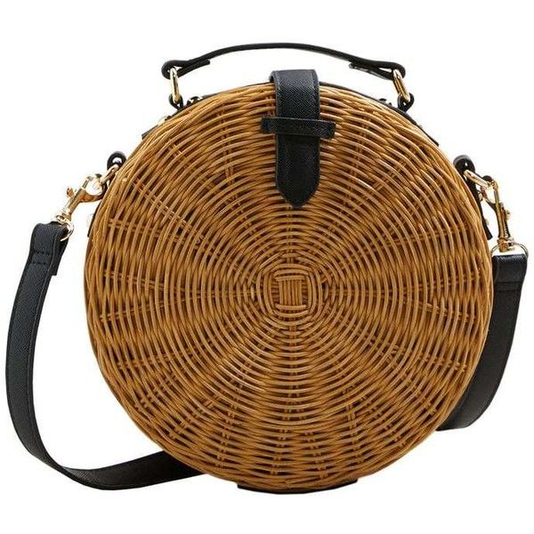 Bamboo Coffer Bag (3.935 RUB) ❤ liked on Polyvore featuring bags, handbags, strap purse, mango purse, strap bag, brown bag and long strap handbags