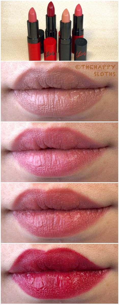 The Happy Sloths: Rimmel London Lasting Finish & Lasting Finish Matte Lipstick by Kate Moss: Review and Swatches