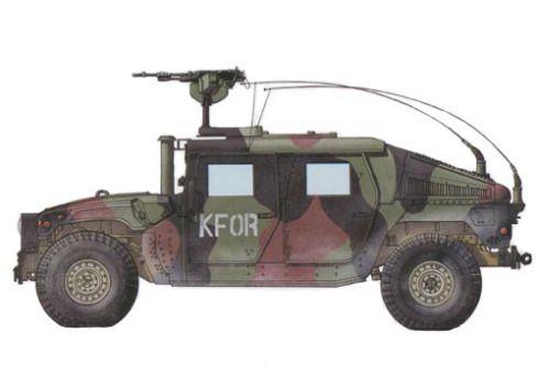 HMMWV M1114, este vehículo va equipado con una ametralladora M240 de 7,60 mm, 1er Batallón del 77º Regimiento, Kosovo, 1999. Pin by Paolo Marzioli