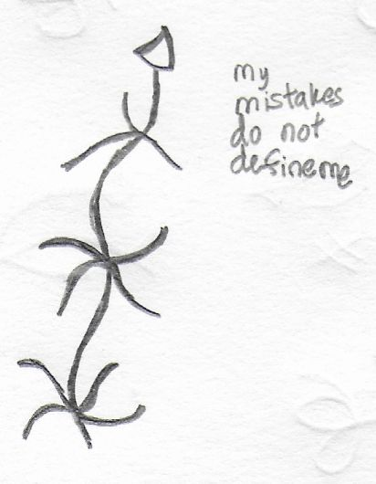"""My mistakes do not define me"" sigil"