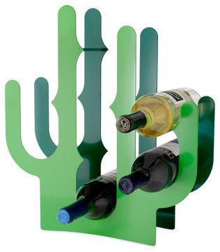 Cactus Wine Rack - eclectic - wine racks - UncommonGoods