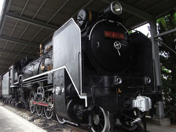 Type D51 No.691 steam locomotive, exhibited in a park nearby Tenri station. Tenri city, Nara