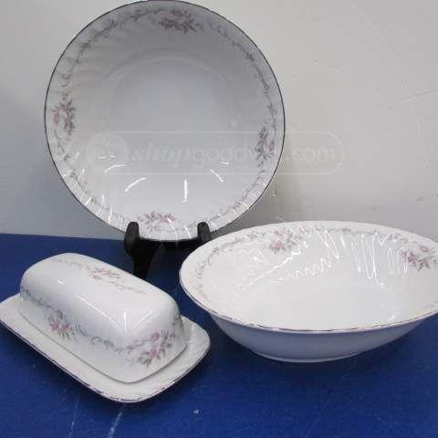 shopgoodwill.com: 2 Gold Standard Rose Serving Bowls