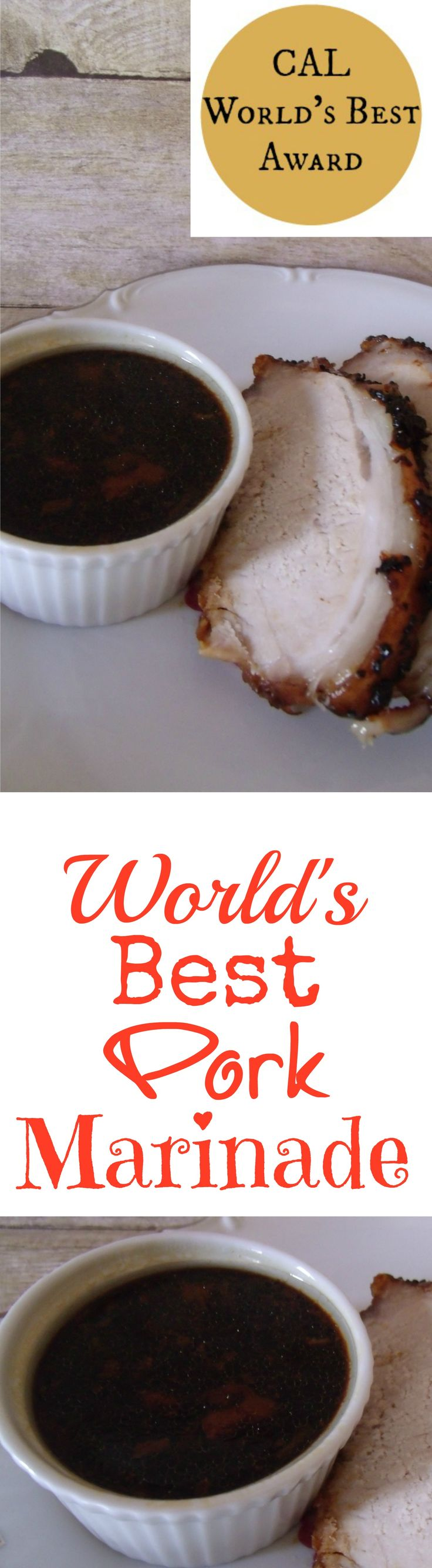 World's Best Pork Marinade...This recipe is a keeper.  Pin it for later!