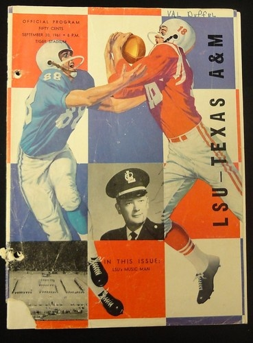 1961 Game Program between LSU Tigers vs Texas Aggies
