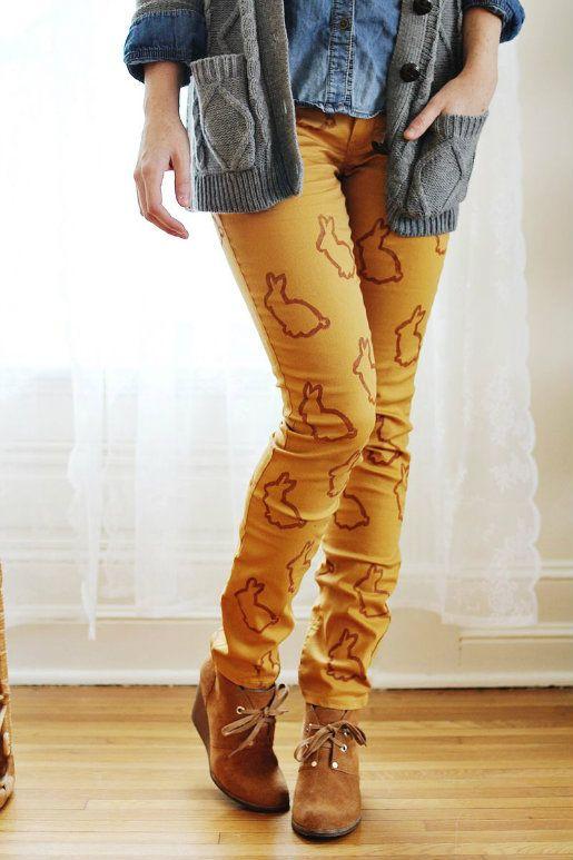 Animal Stencil Statement Pants DIY ~ Drop Dead Cute - Kawaii for Sexy Ladies