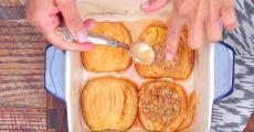 Обалденный десерт на скорую руку: запеченные яблоки с корицей и овсяными хлопьями! | Четыре вкуса