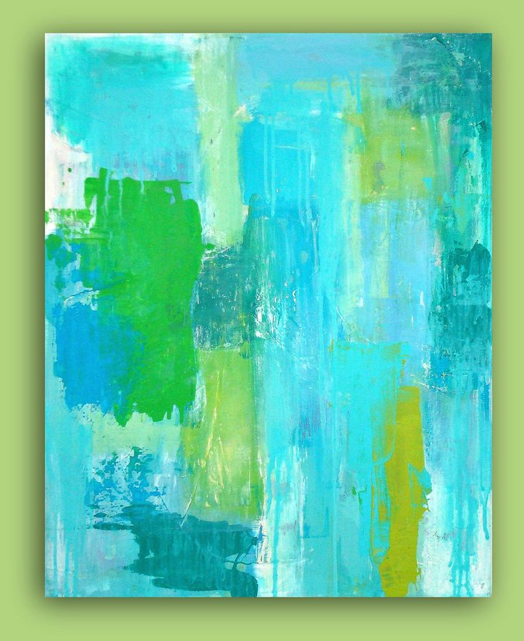 photos of turquoise & lime green rooms | RESERVED.Turquoise Abstract Acrylic Painting Original Wall Art ...