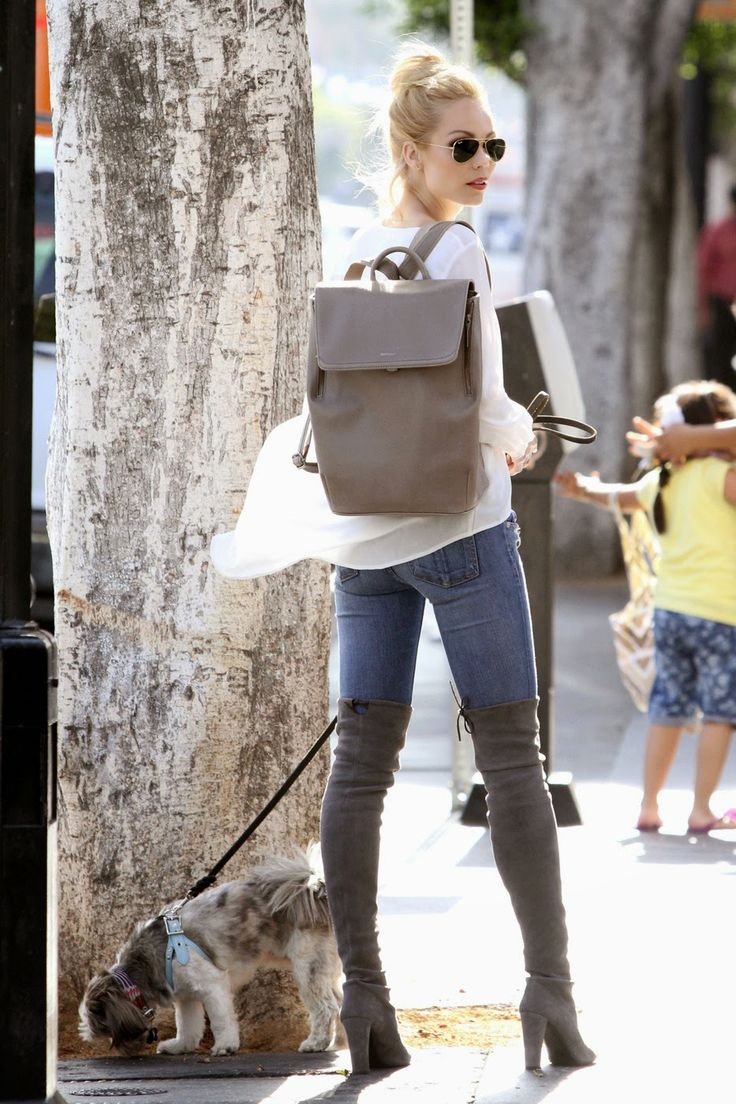 Laura Vandervoort wearing FABI in Walnut.