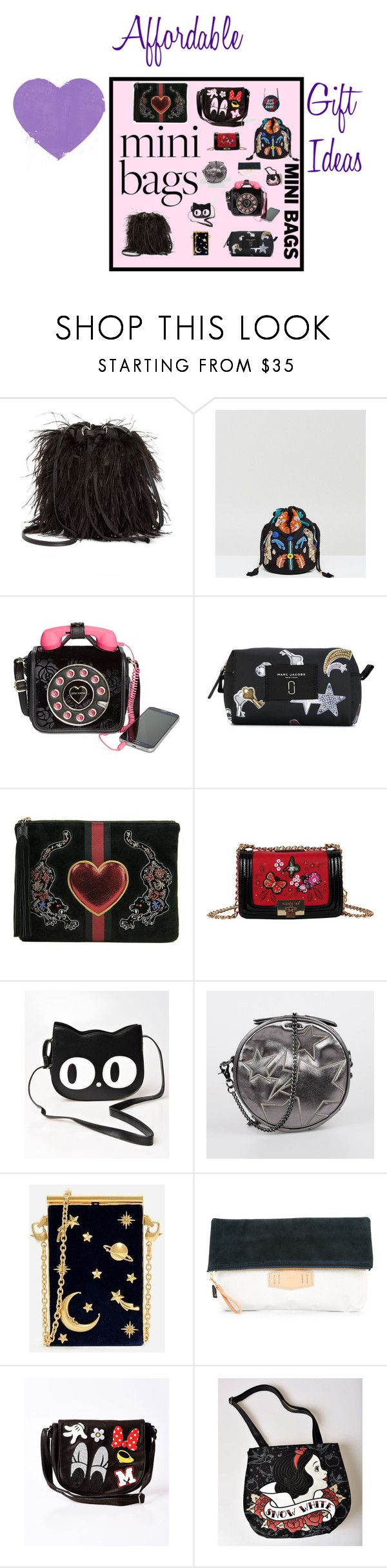 """Mini Bags"" by illuminatab ❤ liked on Polyvore featuring Steve Madden, Reclaimed Vintage, Betsey Johnson, Marc Jacobs, Sam Edelman, Nicole Lee, Banned, Diesel, CHARLES & KEITH and AS2OV"