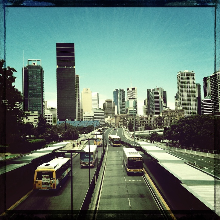 Buses, buses everywhere - Brisbane