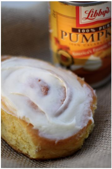 Pumpkin Cinnamon Roll with Cream Cheese Frosting
