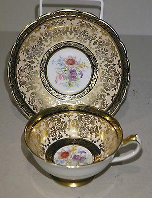 Paragon Floral & Gilt Cup & Saucer - Superb