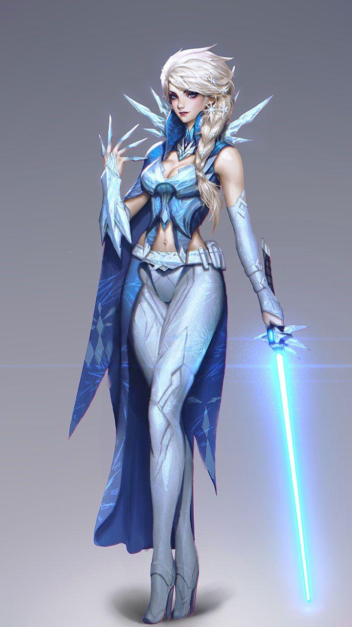 Jedi Elsa Di 2020 Gadis Fantasi Seni Karakter Karakter Fantasi