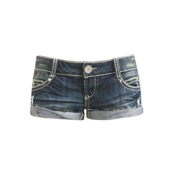 Heavy Stitch Short - Teen Clothing by Wet Seal (6.61 CAD) ❤ liked on Polyvore featuring shorts, bottoms, pants, short, short shorts, wet seal shorts and wet seal