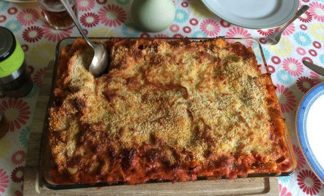 Zalige pasta schotel uit de oven. Perfect voor een groot gezelschap.