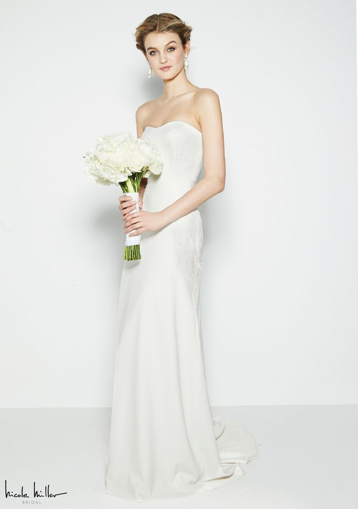 Fantástico Nicole Miller Vestido De Novia Lauren Ideas Ornamento ...