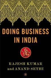 Kumar, Rajesh ; Sethi, Anand Kumar: Doing business in India : a guide for western managers