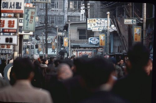 Seoul, Myeong-dong, Jan 1966 | Photo by Stephen Dreher.