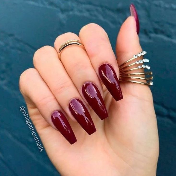 39 Trendy Fall Nails Art Designs Ideas To Look Autumnal And Charming Autumn Nail Art Ideas Fall Nail Art Fall Art Luxury Nails Burgundy Nails Maroon Nails