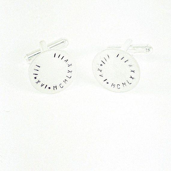 Personalised Roman Numerals Cufflinks