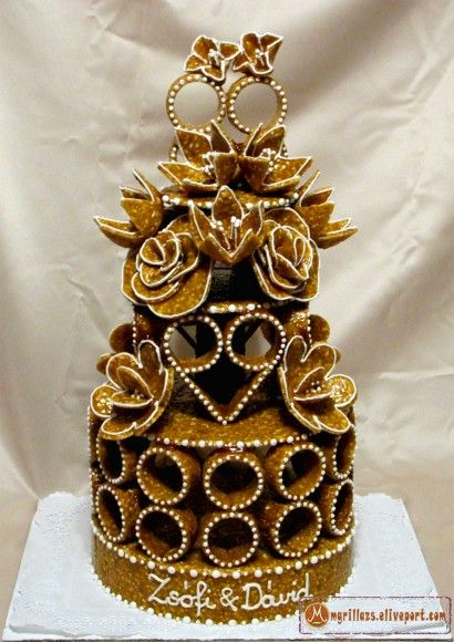 Virágos esküvői torta / Flower wedding creation