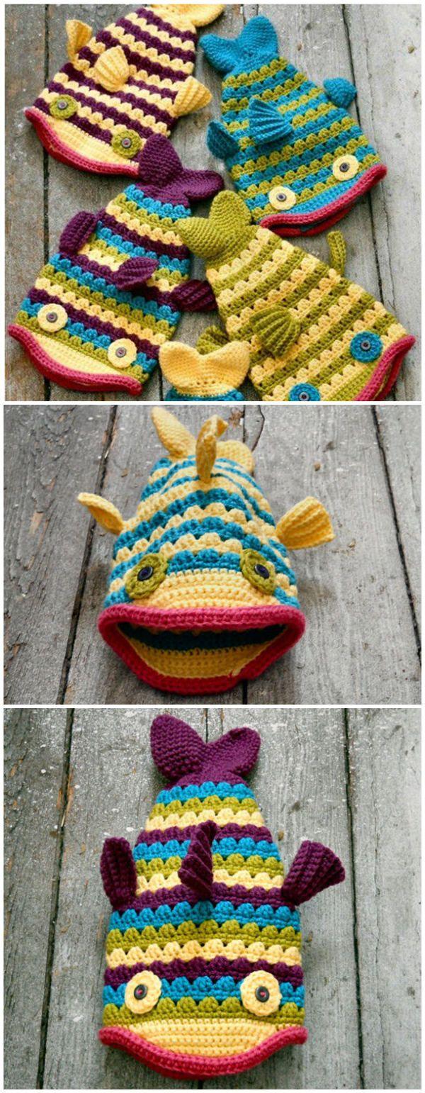 Crochet Fish Hat Pattern