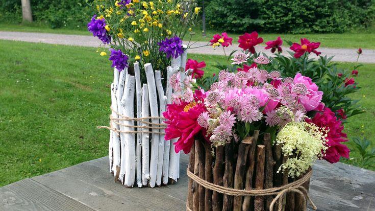 Så gör du Ernsts blomvaser av kvistar - Sommar med Ernst - tv4.se