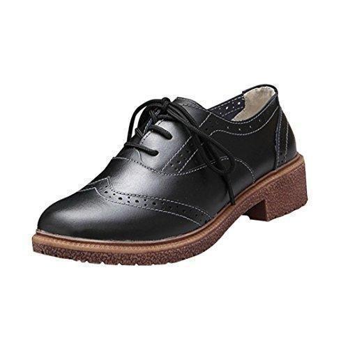 Oferta: 19.7€. Comprar Ofertas de FEITONG Primavera Nuevo británico Estilo Zapatos retro Zapatos Con Grueso Con Oxford Zapatos (37, negro) barato. ¡Mira las ofertas!
