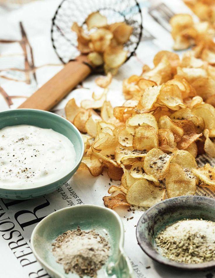 Lantliv mat & vin, hemgjorda Potatischips recept Skall testa att göra låghistamin!