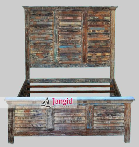 Indian Reclaimed Wooden Bed. We are Manufacturer and Exporter of Reclaimed  Wood Furniture India and
