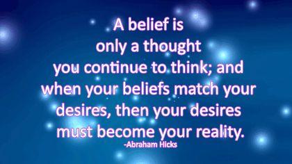 A belief...